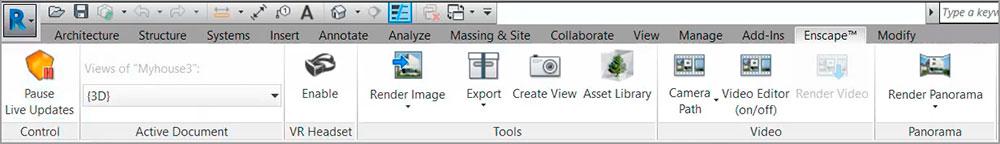 Interface Enscape