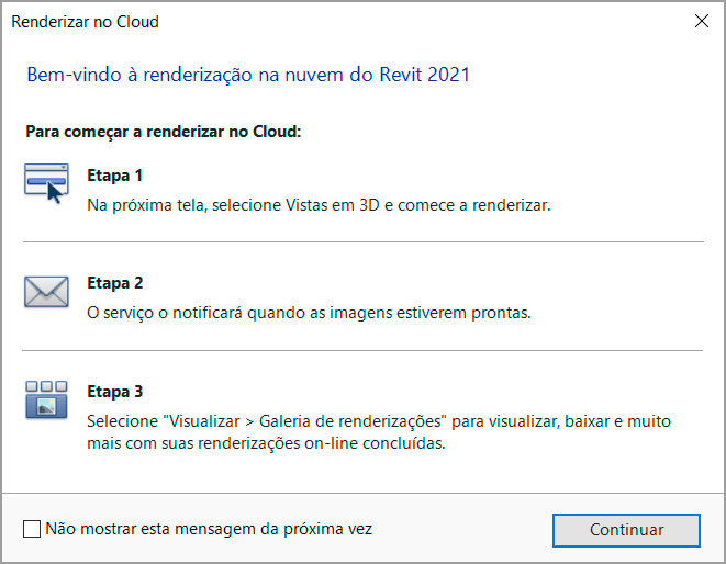 Janela Renderizar no Cloud