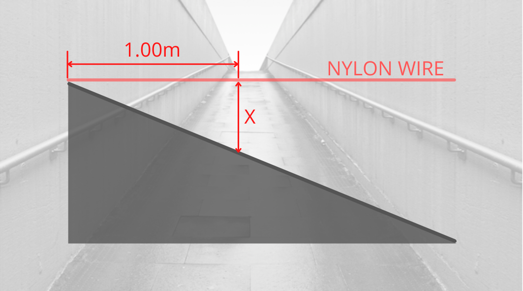 HOW TO MEASURE THE HEIGHT OF A RAMP?