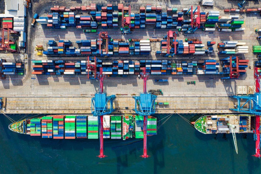 Aerial Photograph of Cargo Ship