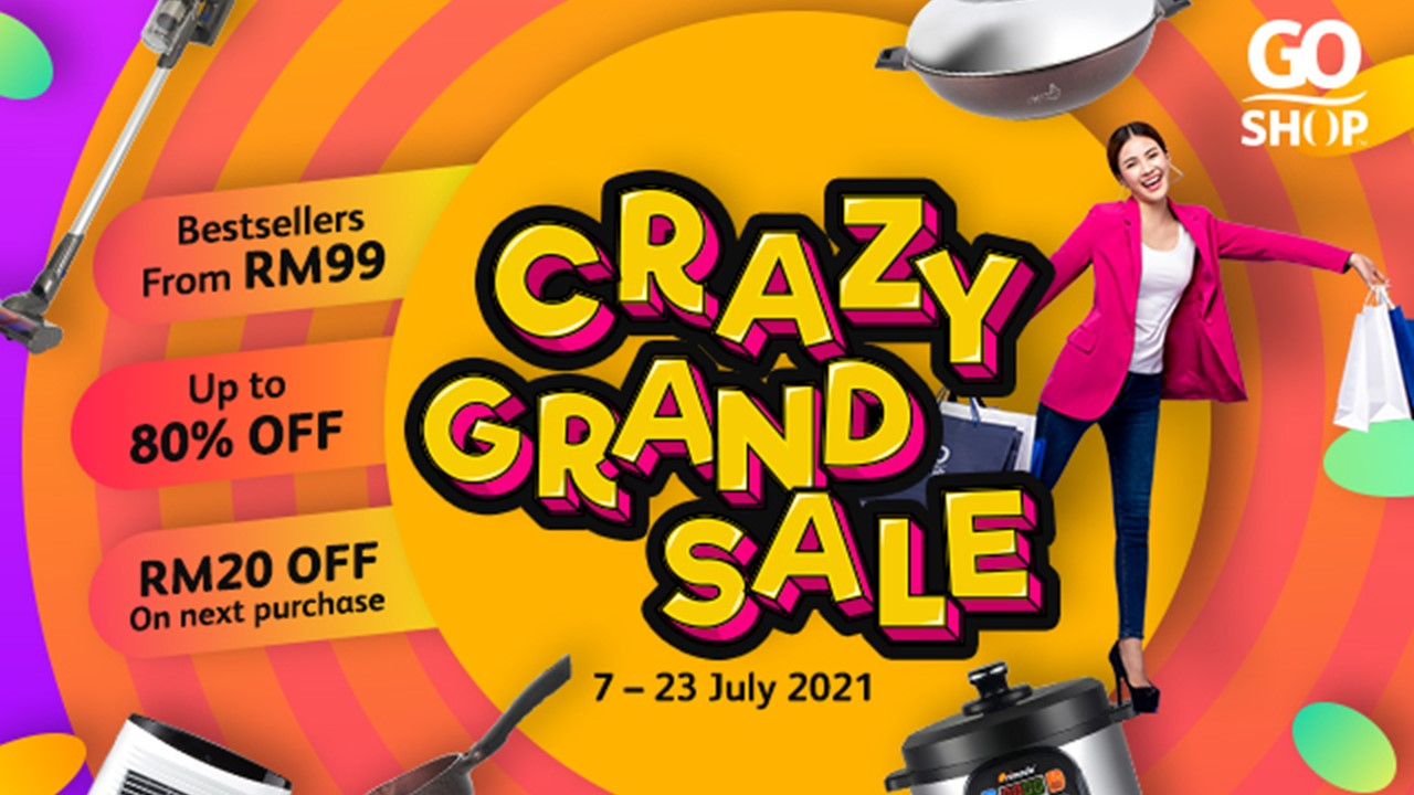 Go on a shopping spree at Go Shop's Crazy Grand Sale!