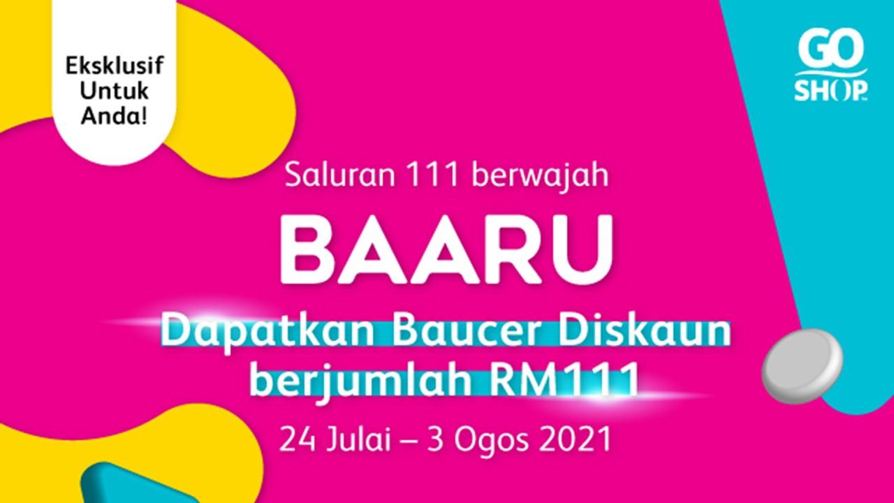 Go Shop menjenamakan semula CH111 kepada BAARU demi menyasarkan lebih ramai golongan milenial di Malaysia
