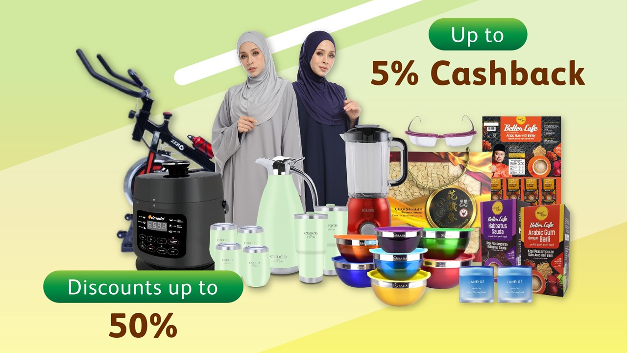 Go Shop offers free shipping and discounts up to 50% for Kaamatan and Gawai