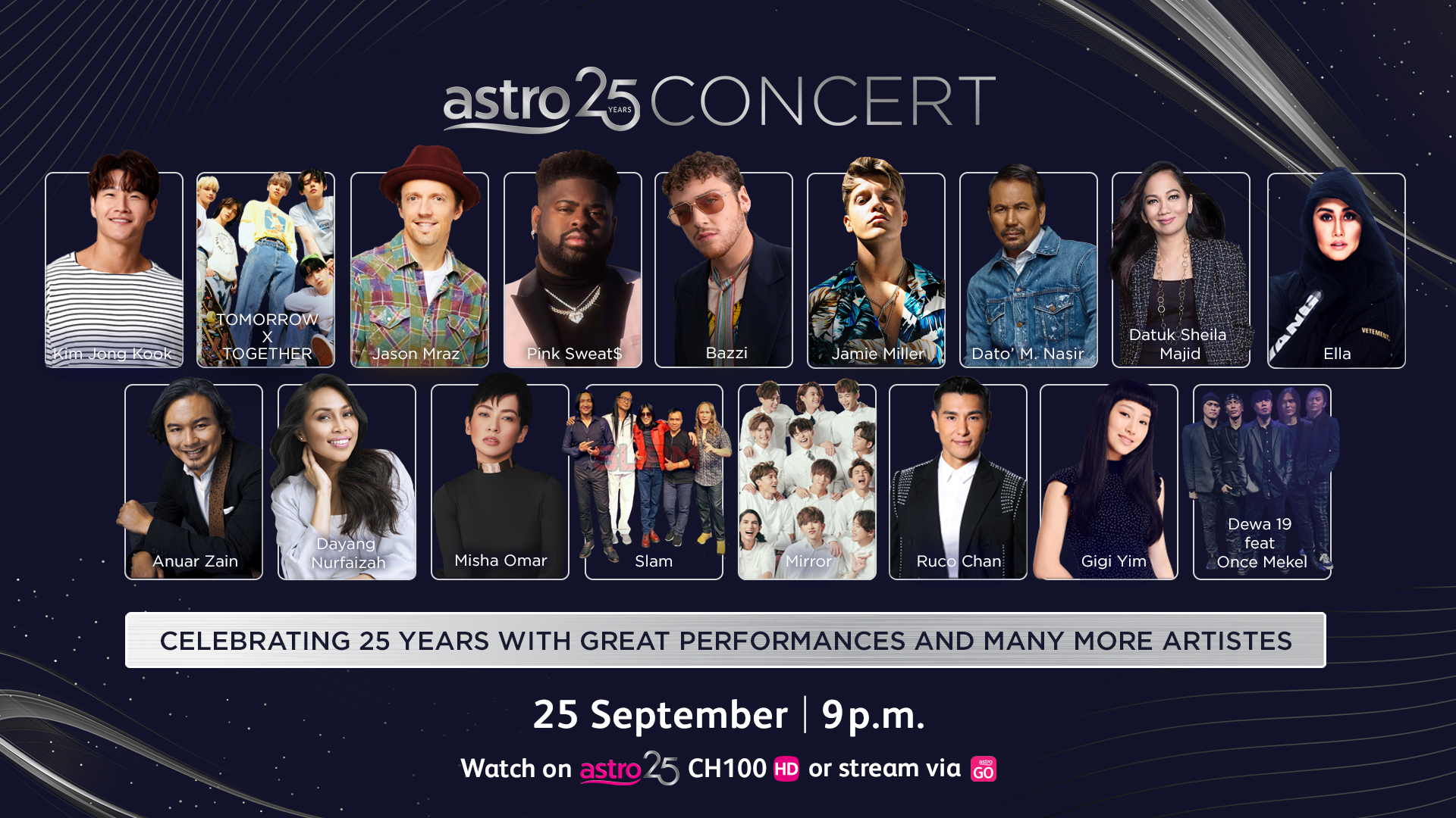 Special Astro 25 Concert with a star-studded line-up of International and Local Artistes