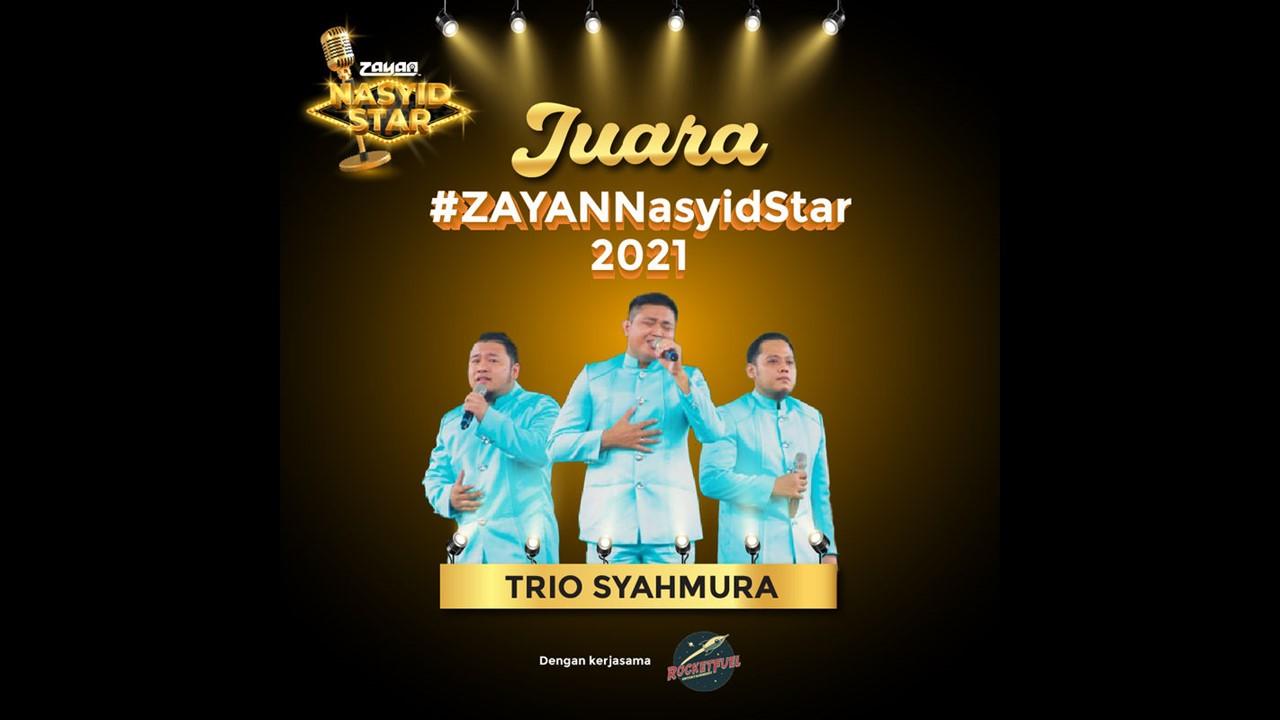 ZAYAN mengumumkan juara pertandingan 'ZAYAN Nasyid Star'