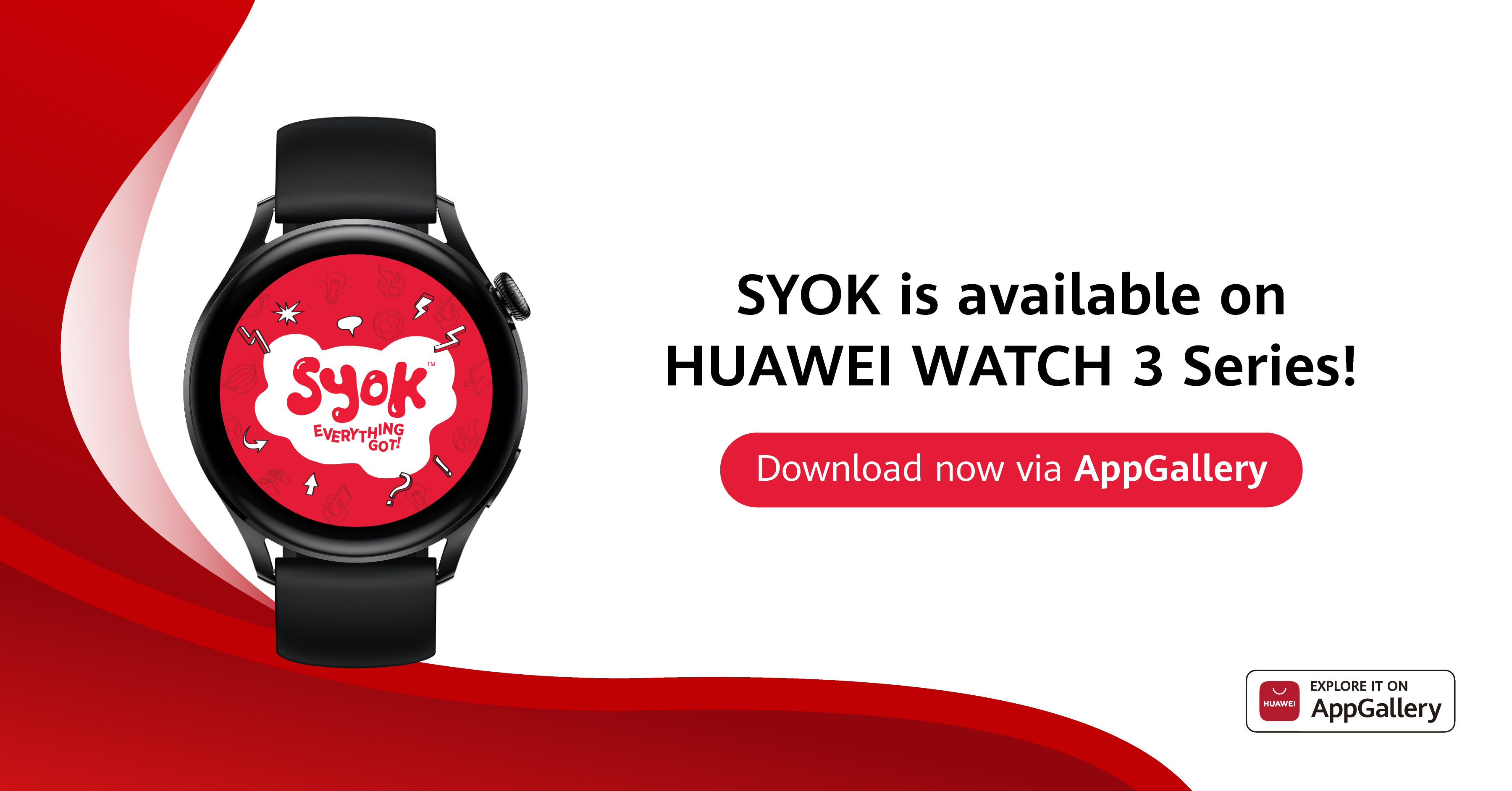 SYOK App Now Available on the HUAWEI WATCH 3 Series