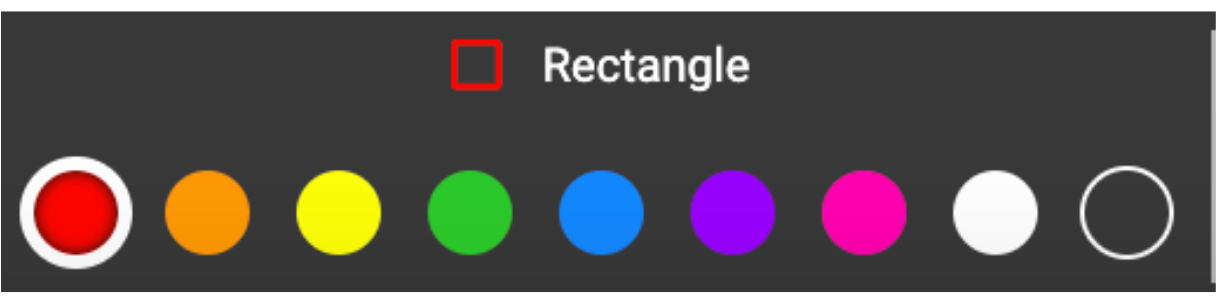 The rectangle options in the new toolbar