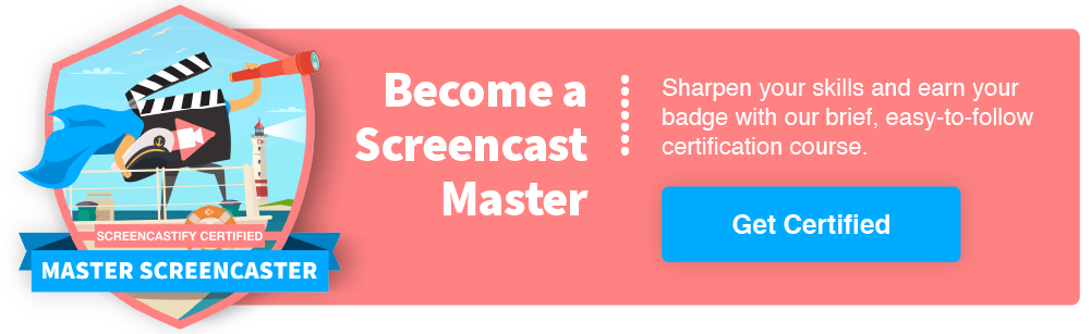 Become a screencast master with Screentcastify!