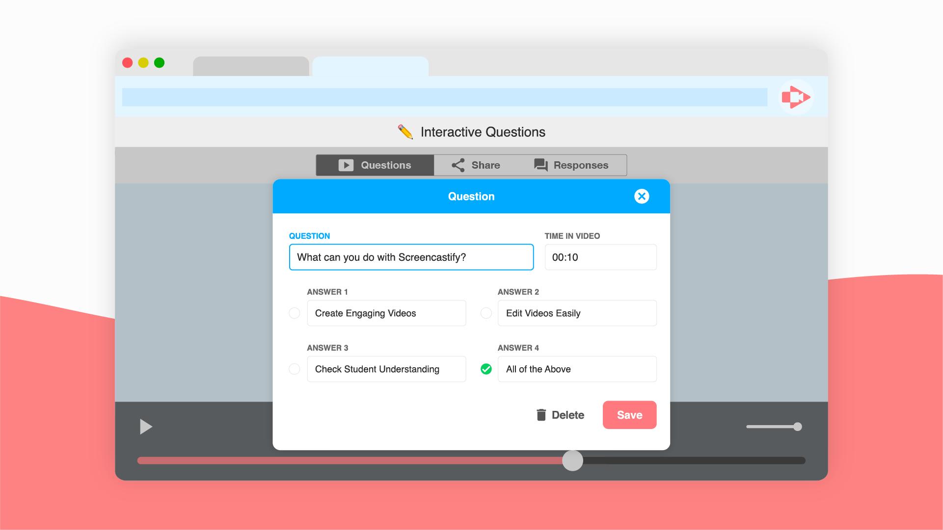 Interactive Questions Screenshot