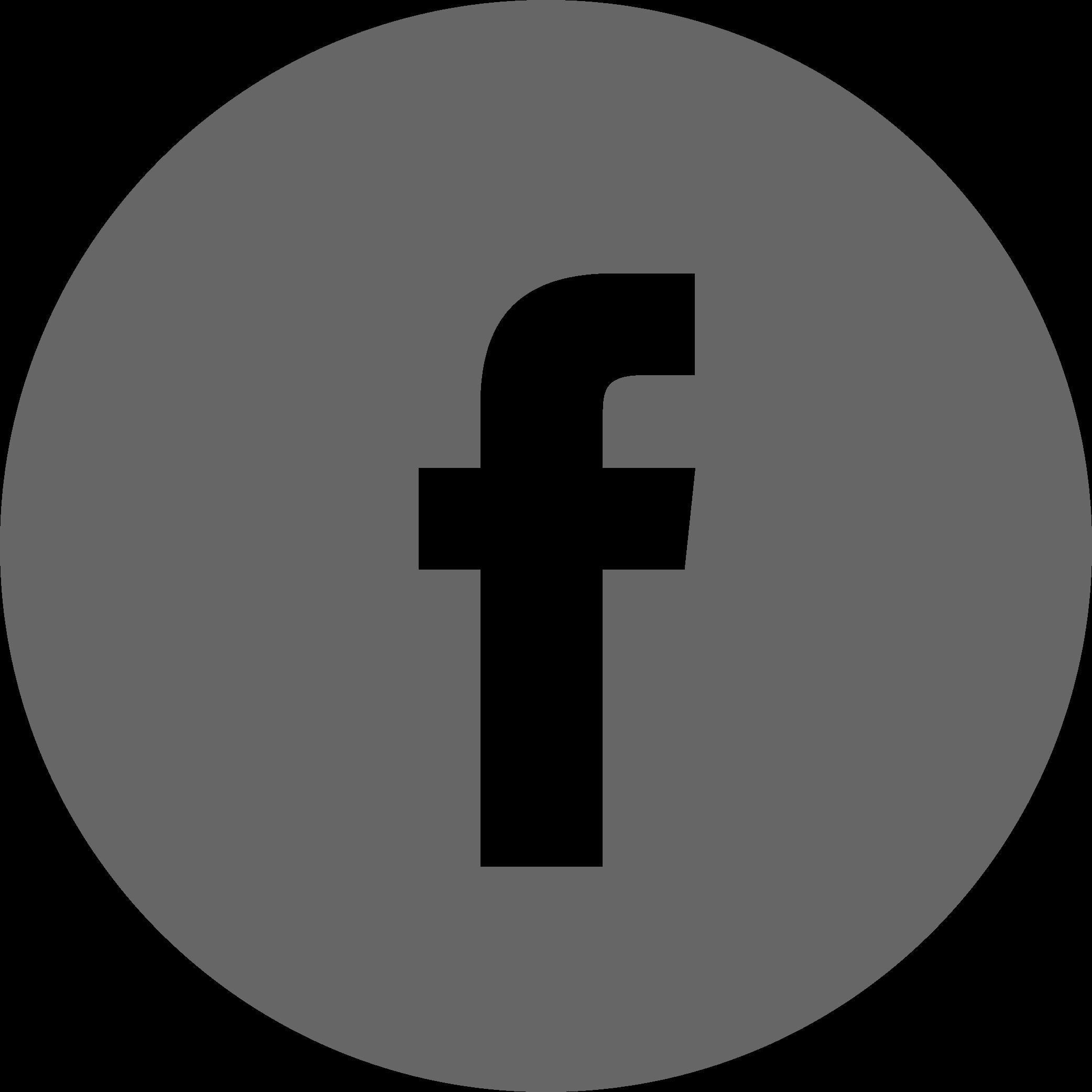 A gray Facebook icon.