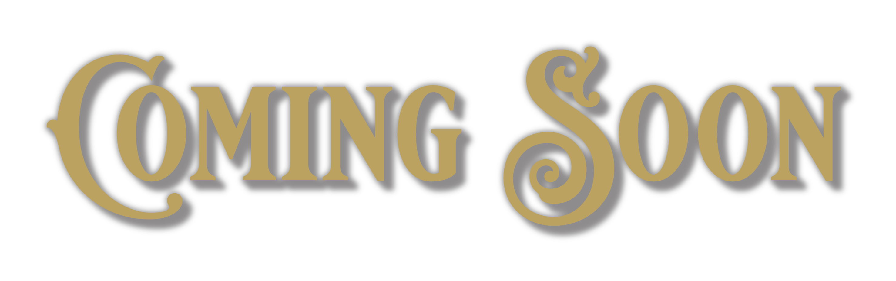 Coming Soon lettering
