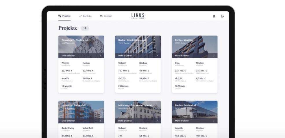 Ausbau der digitalen Immobilien-Investmentplattform: LINUS leitet nächsten Entwicklungsschritt ein