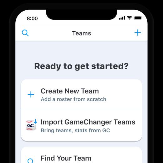 GameChanger Team Manager import team screen - migration