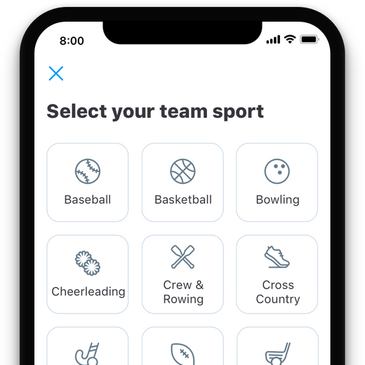 migration step 3 - select your sport