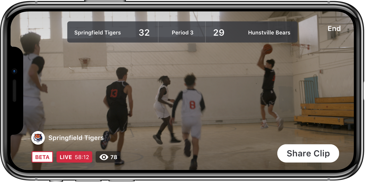 Live video streaming for basketball
