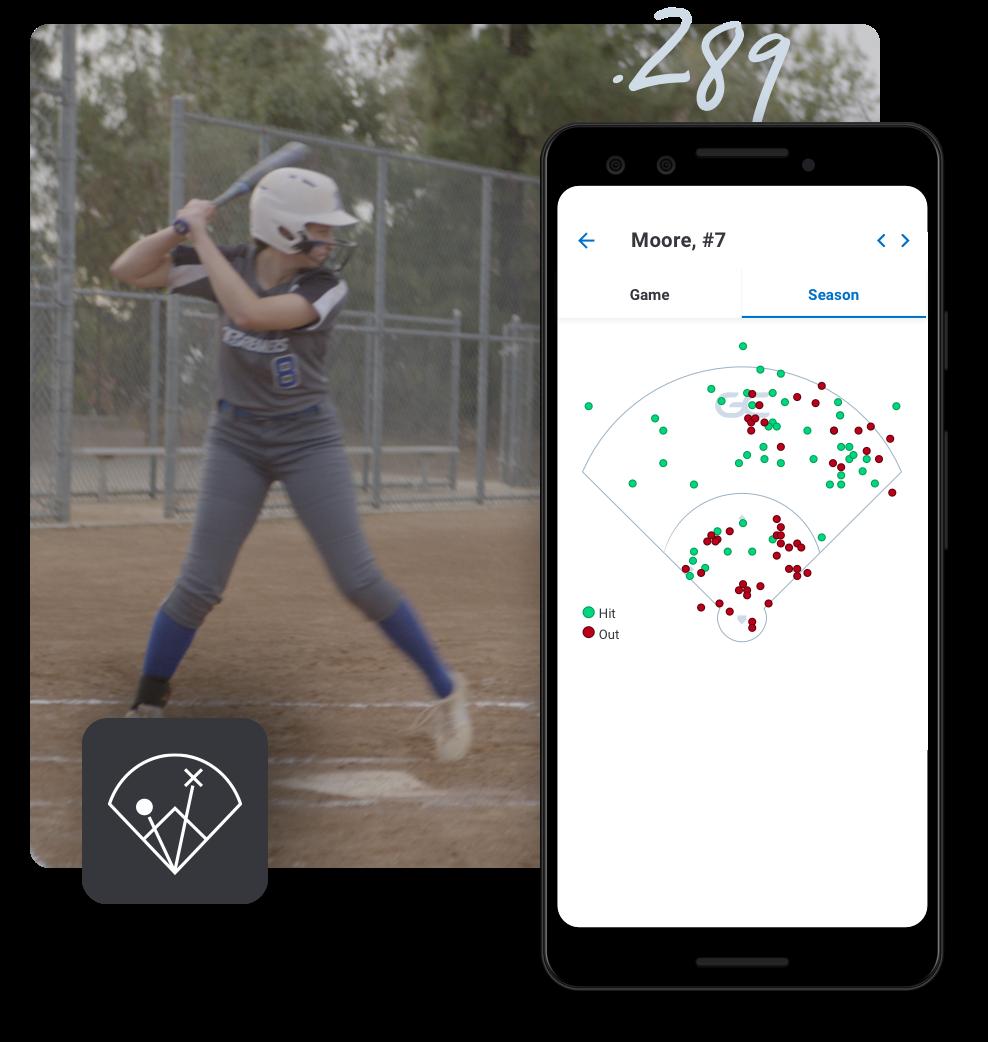 Softball stats and spray charts