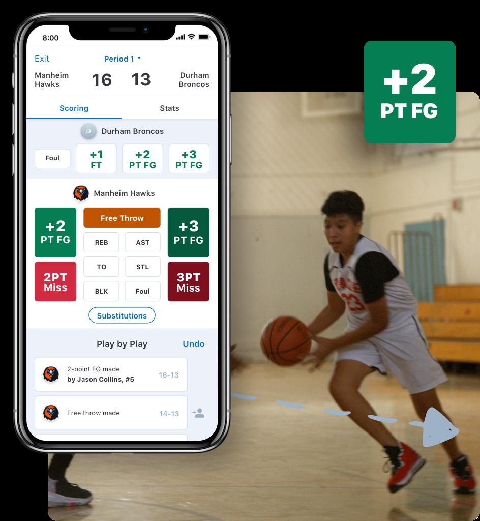Basketball scorekeeping