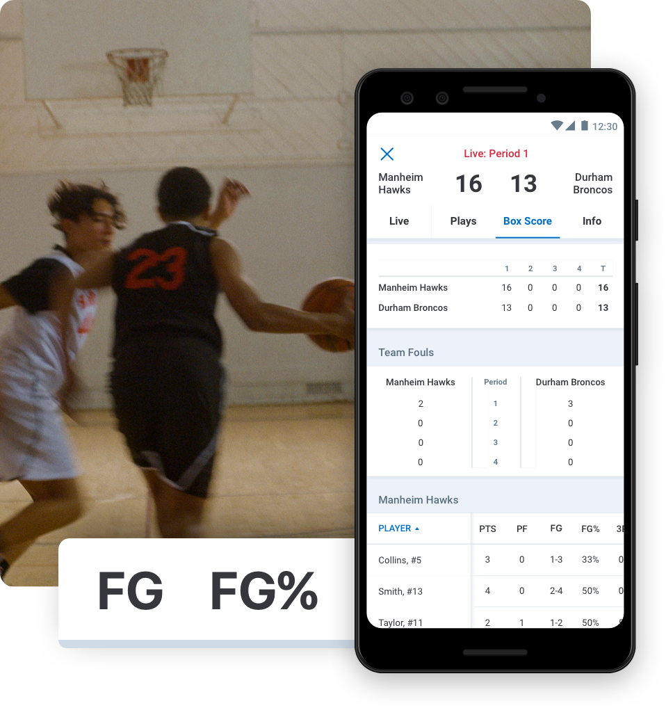 Basketball stats during live gamestream