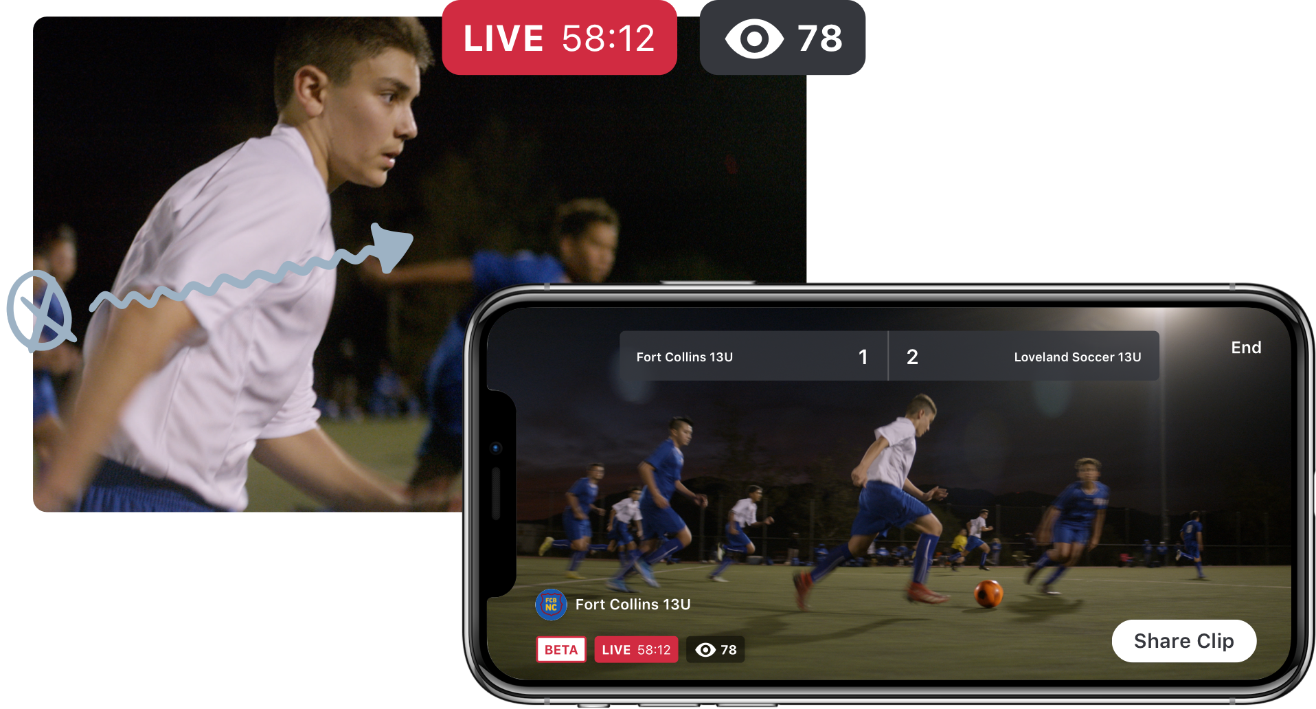 Live video streaming for soccer