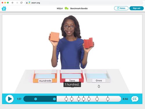 Zearn math videos teaching math online.