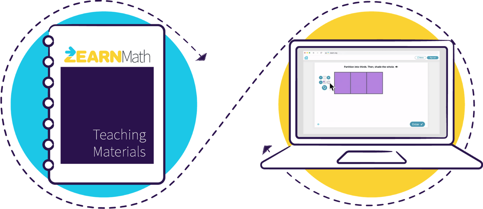 Zearn online curriculum and digital math lessons