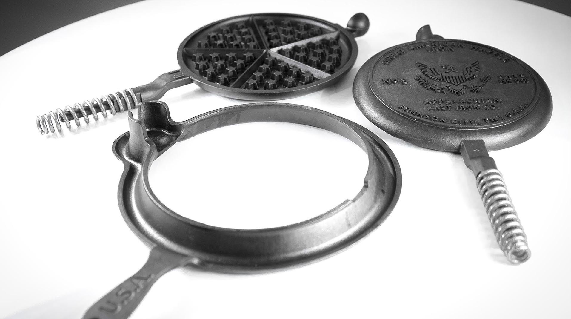 Great American Waffle Iron disassembled