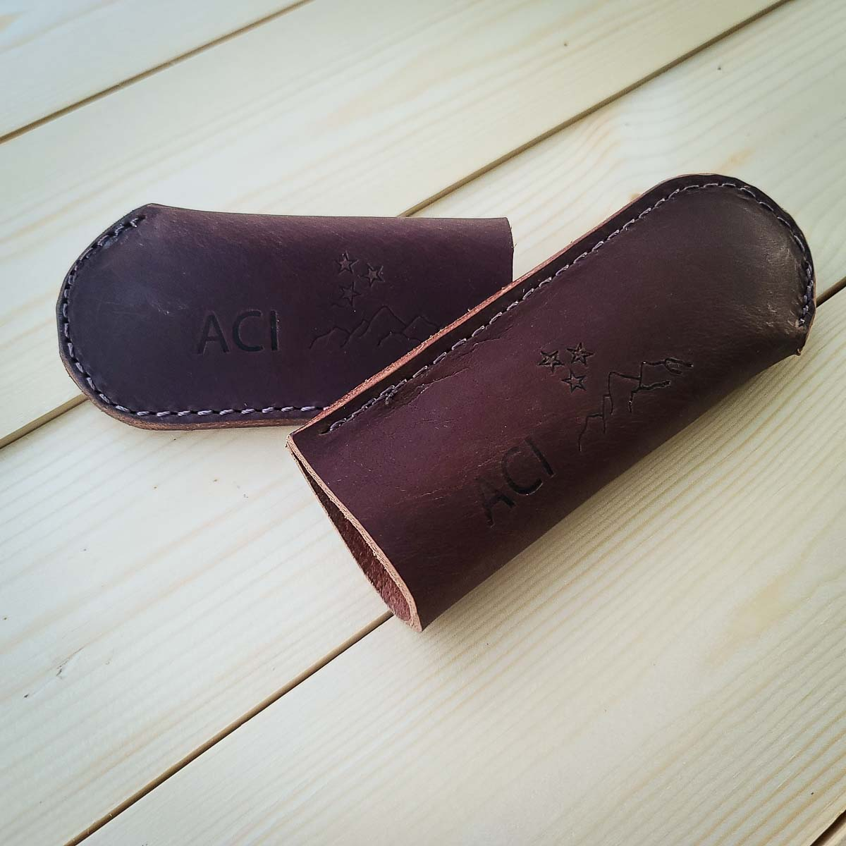 Heavy Duty Folded Leather Handle Cover, 4.5 inch or 5.5 inch