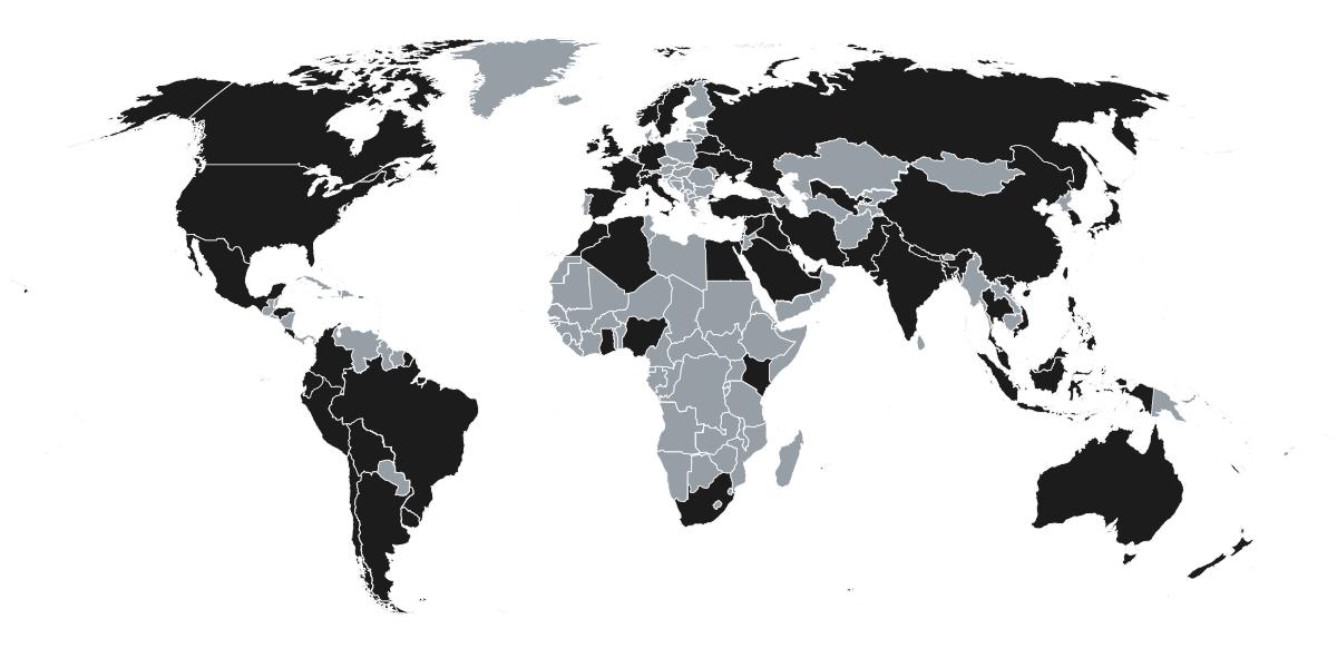 Unacast Global Coverage