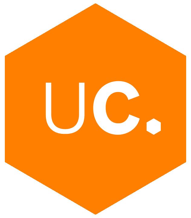 Unacast logo badge
