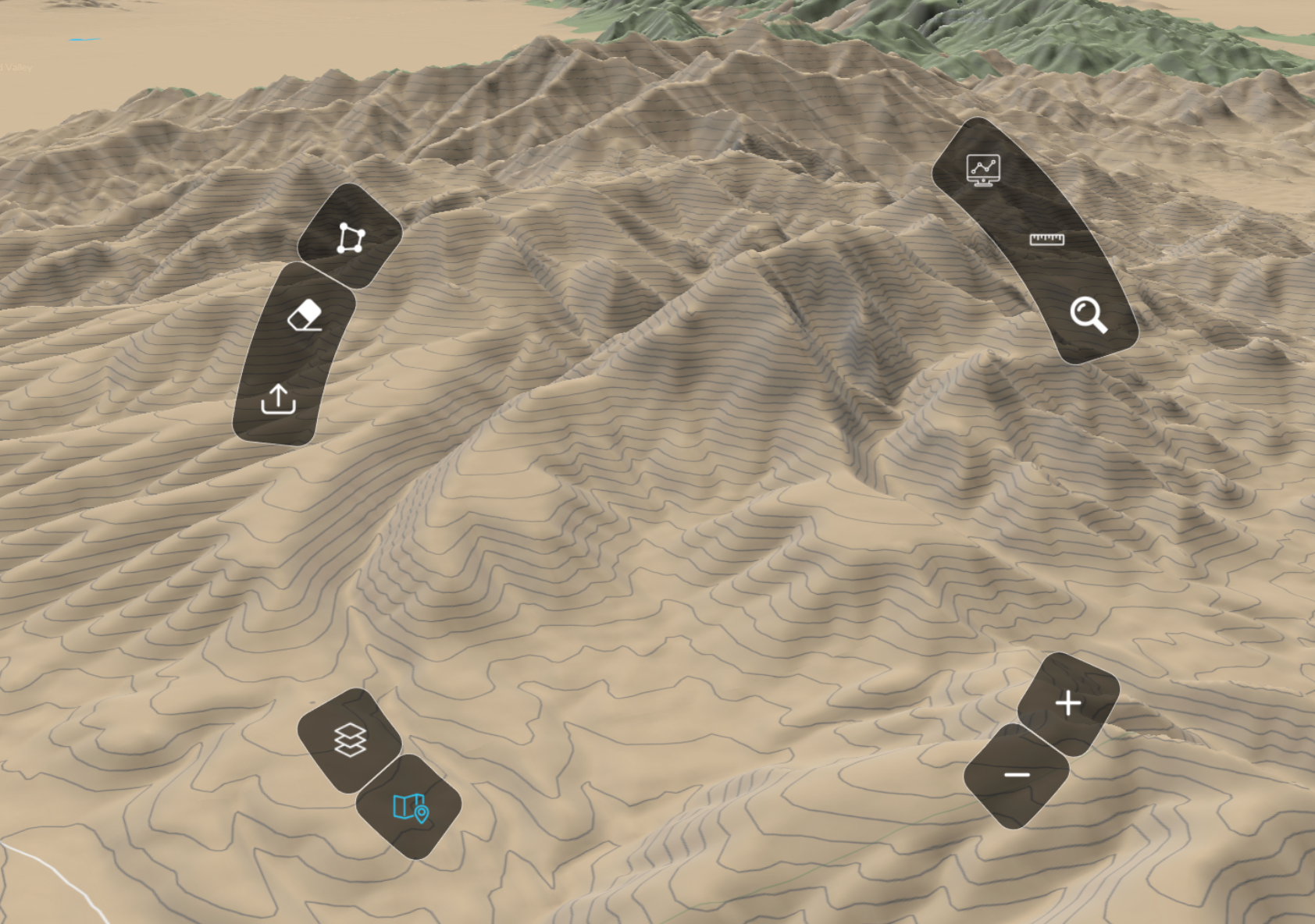b. New terrain layer added to base maps