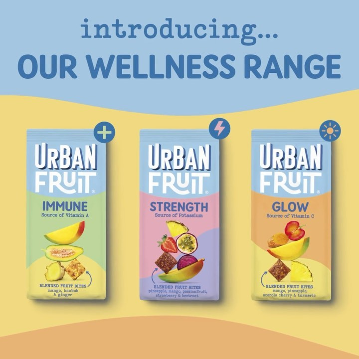 Who'd have thought a Monday could be this exciting 🎉 Say hello to our NEW Urban Fruit Wellness Range - delicious blended fruit bites, made with 100% real fruit and each with wellness benefits! � � �Urban Fruit Immune - Source of Vitamin A� �Urban ...
