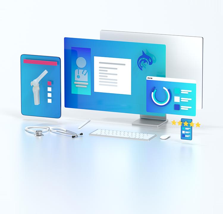 3D Image featuring Orca Health Digital Health Tools