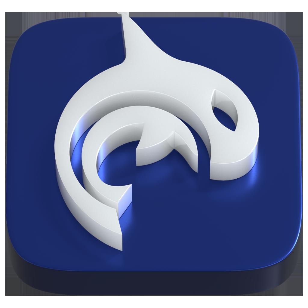 Orca Health Logo in 3D