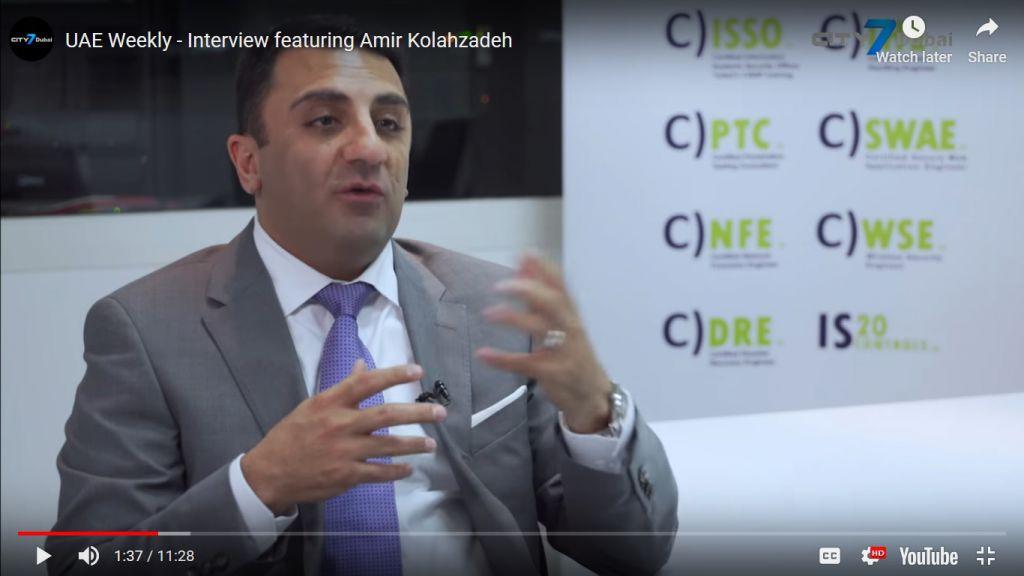UAE WEEKLY – INTERVIEW FEATURING AMIR KOLAHZADEH