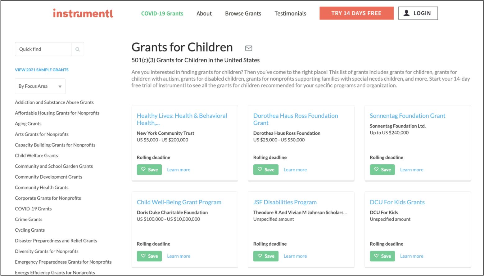 Grants for Children