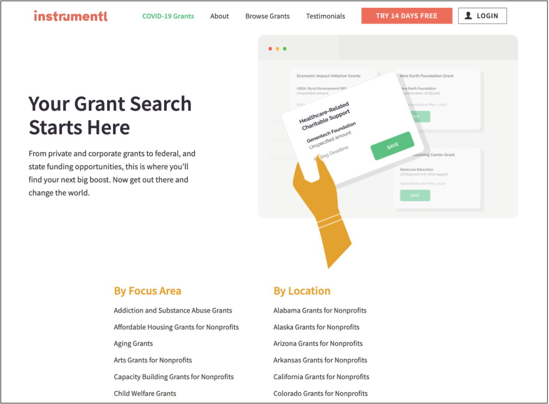 Instrumentl Grants List