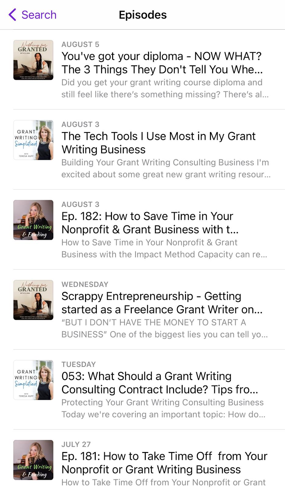 Nonprofit grant writing podcasts list