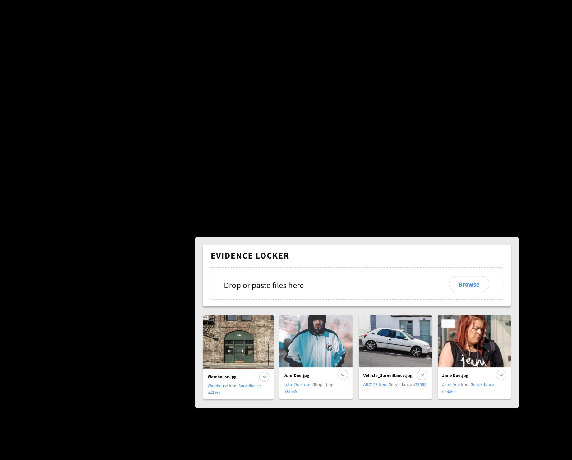 Screenshot of Auror Investigate