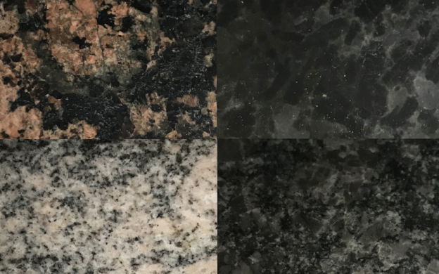 Granite and Quartz Installations Manchester, Four samples of granite