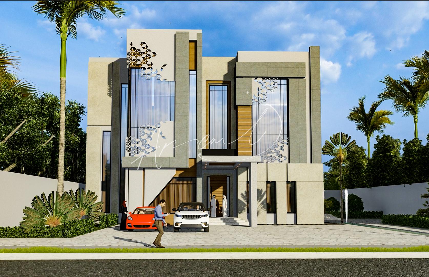 Modern Luxurious Villa Exterior Design - 066