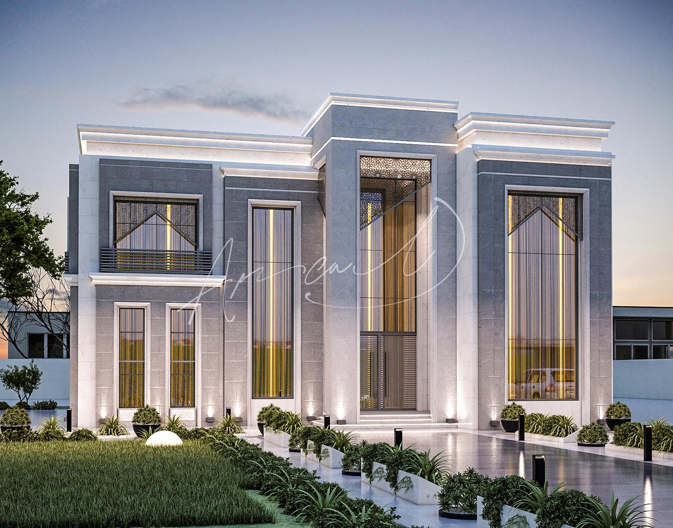Modern Villa Exterior Design - 081