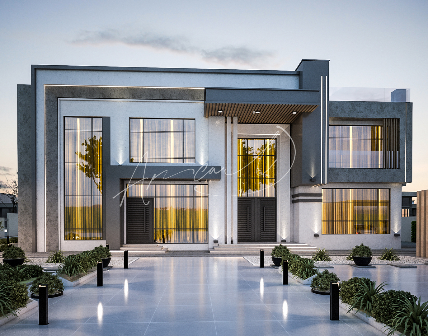 Modern Luxurious Villa Exterior Design - 079