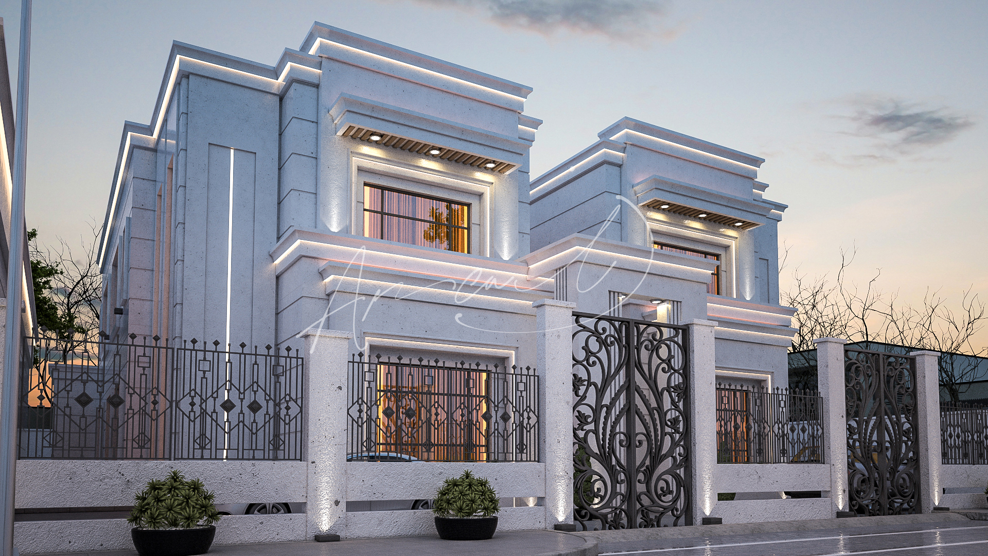 Modern Villa Exterior Design - 077