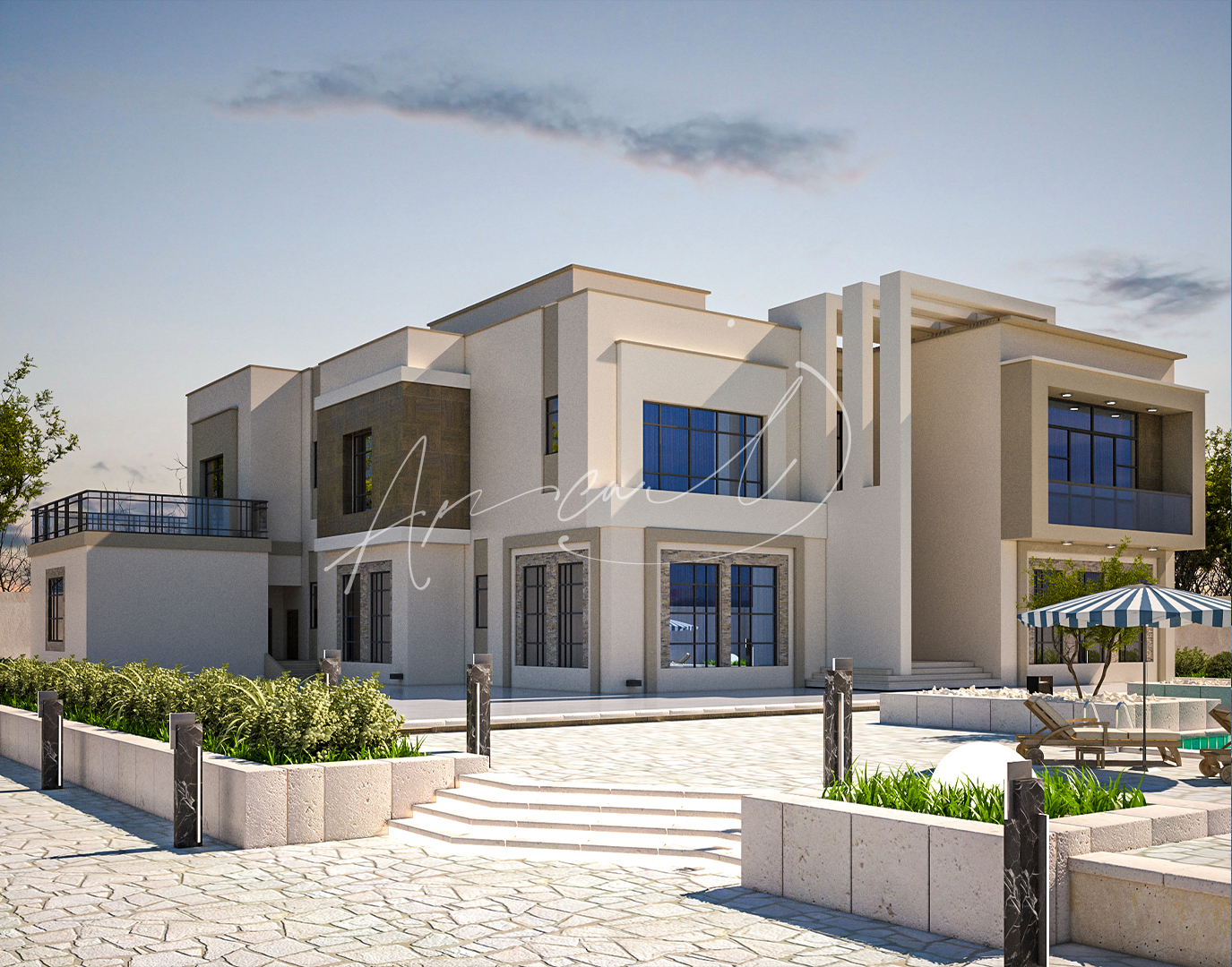 Modern Villa Exterior Design - 075