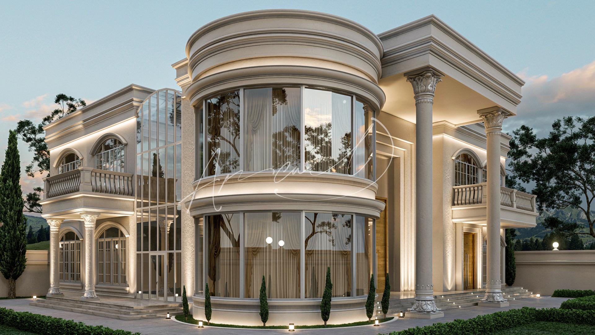 Classic Luxury Residential Villa Exterior Design - 073