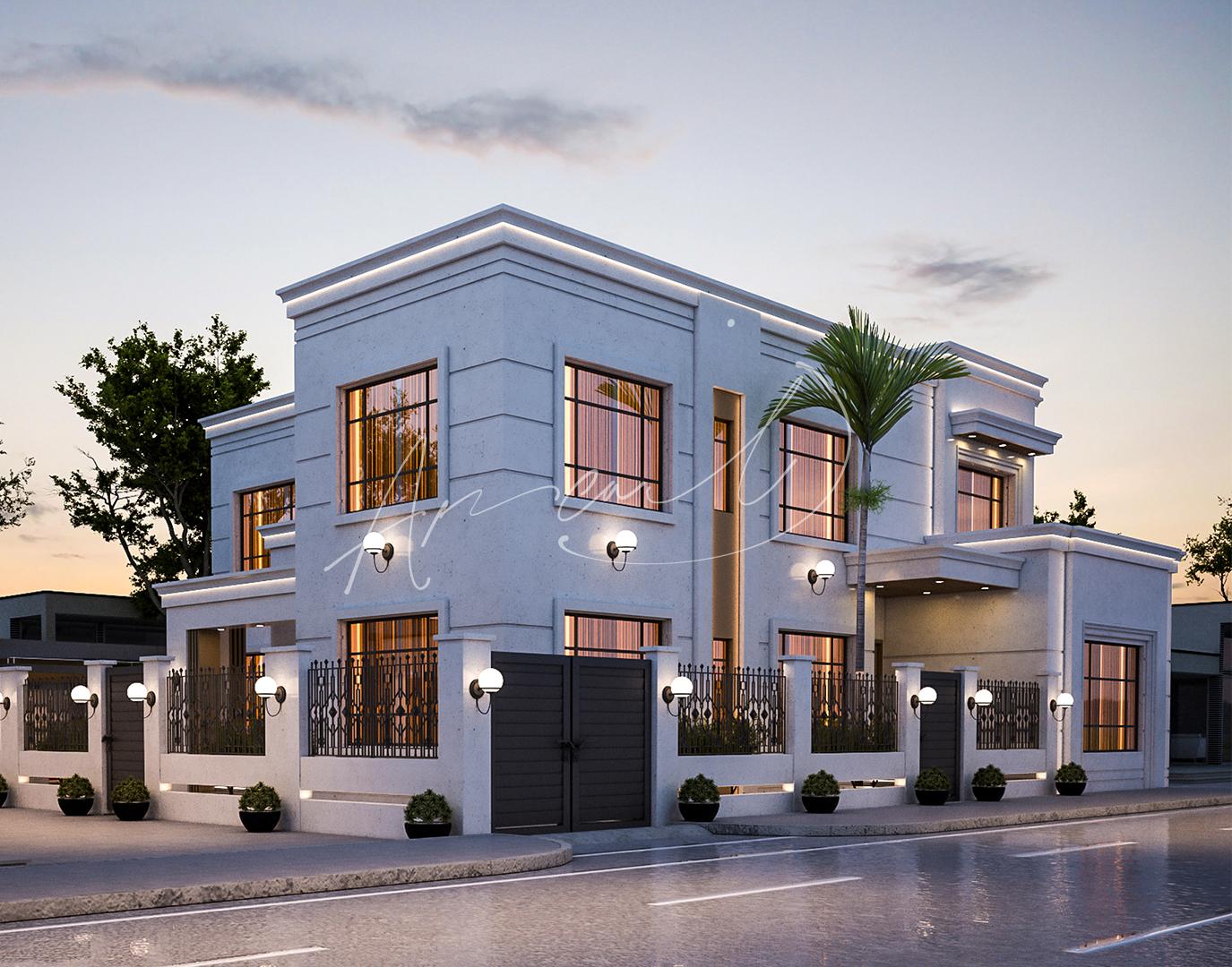 Modern Villa Exterior Design - 036