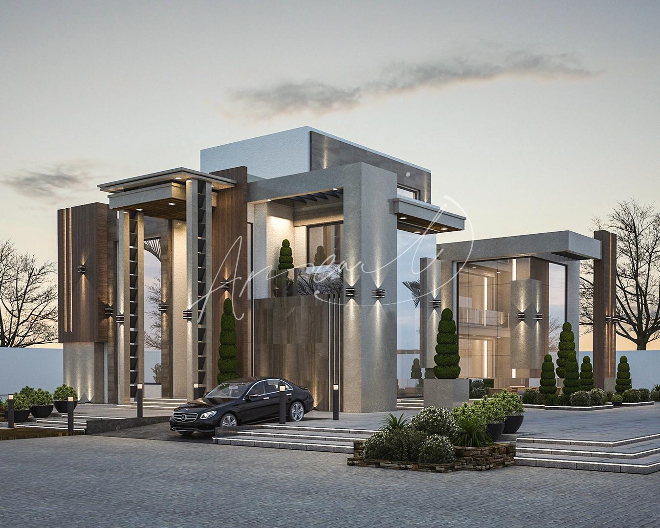 Modern Luxurious Villa Exterior Design - 031