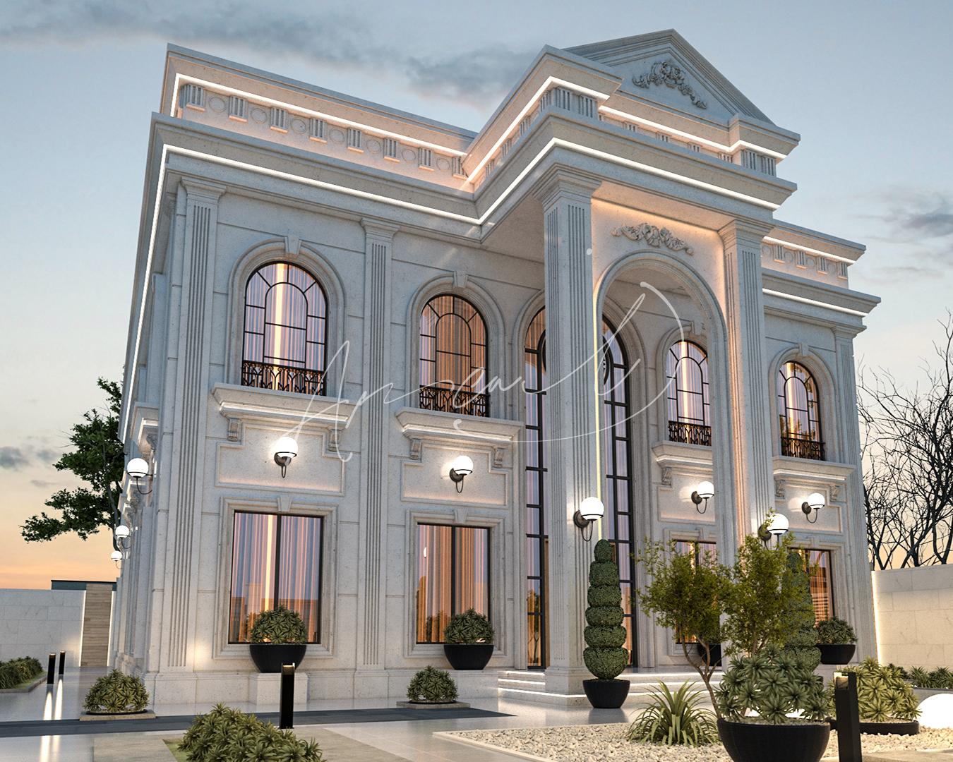 Classic Luxury Residential Villa Exterior Design - 072