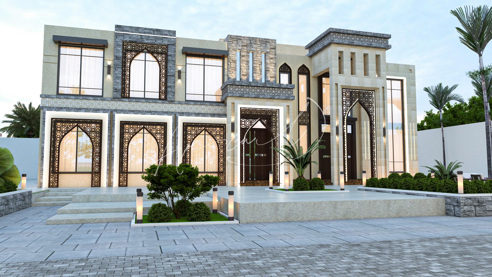 Islamic Luxurious Villa Exterior Design - 070