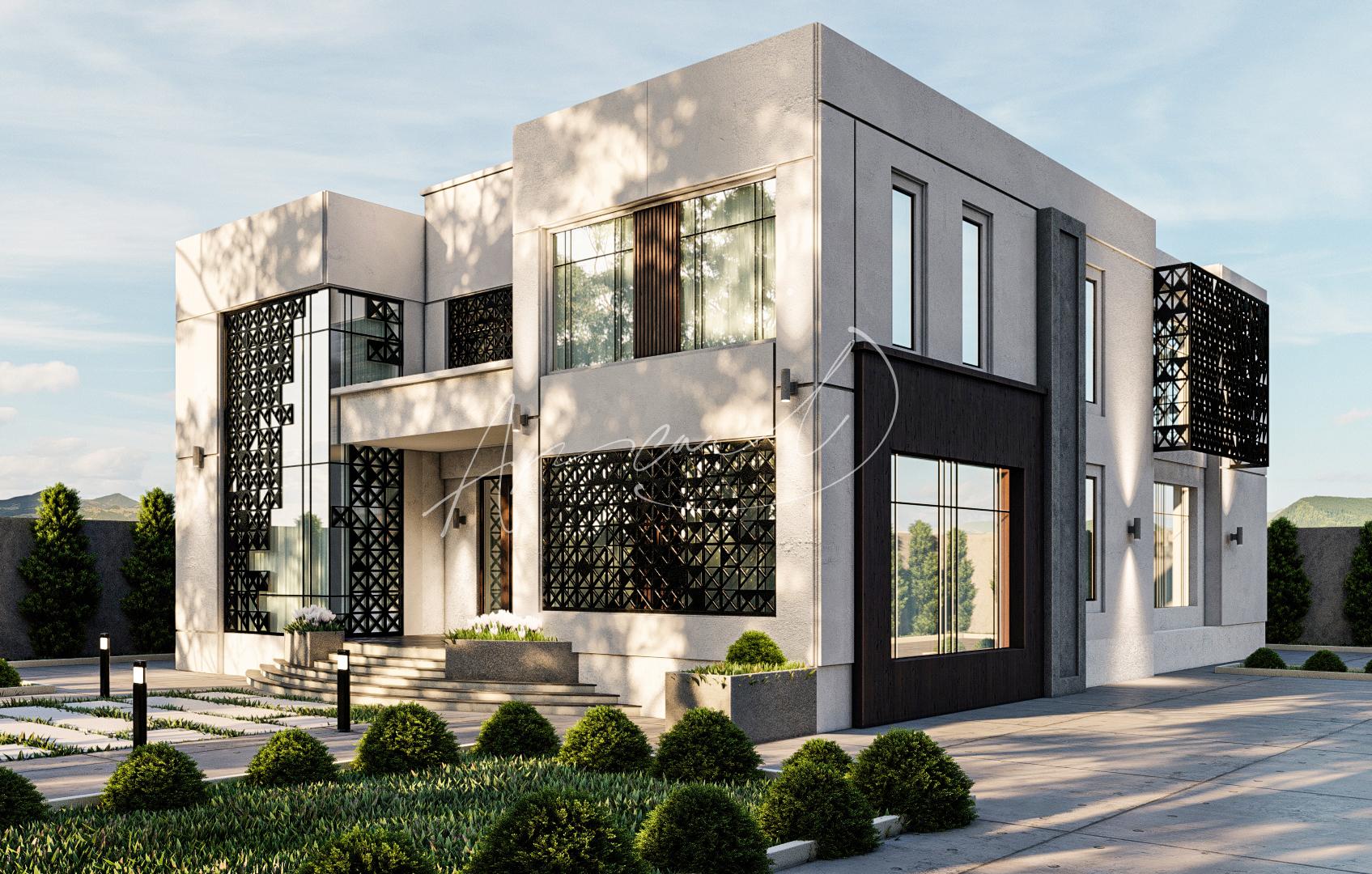 Modern Luxurious Villa Exterior Design - 068